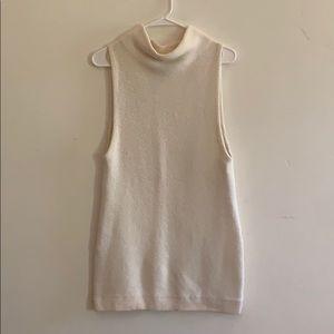FREE PEOPLE ivory mock neck knit dress. Size XS